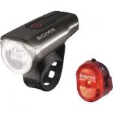 Zestaw lampek rowerowych Sigma Aura 60 Nugget II