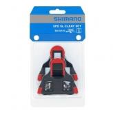 Bloki pedałów Shimano sh10 spd-sl szosa czerwone