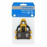Bloki pedałów Shimano sh11 spd-sl szosa żółte