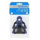 Bloki pedałów Shimano sh12 spd-sl szosa niebieskie