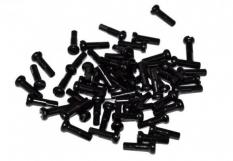 Nypel 16mm alu 144 szt czarny