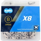 KMC X8 łańcuch 8 rzędowy 114 ogniw