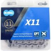 Łańcuch KMC X11 EPT 118og. Srebrny