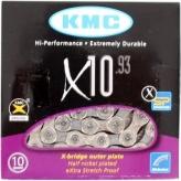 Łańcuch KMC X10 114og. czarno-srebrny