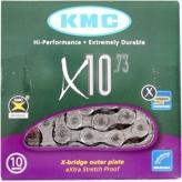 Łańcuch KMC X10 114og. Szary