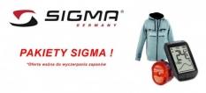 Pakiet sigma liczniki + oświetlenie + bluza