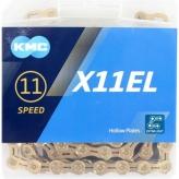 Łańcuch KMC X11EL 118og. Złoty
