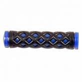 Chwyty rowerowe HY-500-3 128mm czarno-niebieski