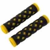 Chwyty rowerowe HY-500-3 128mm czarno-żółty