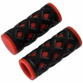 Chwyty rowerowe HY-500-3G 75mm czarno-czerwony