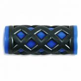 Chwyty rowerowe HY-500-3G 75mm czarno-niebieski