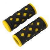 Chwyty rowerowe HY-500-3G 75mm czarno-żółty