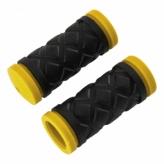 Chwyty rowerowe HY-503-3G 75mm czarno-żółte