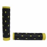 Chwyty rączki rowerowe Kraton 2D czarne żółte