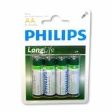 Bateria Philips R-6 Longlife BLISTER 4szt. AA