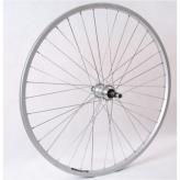 Koło rowerowe tylne 24 wolnobieg srebrne