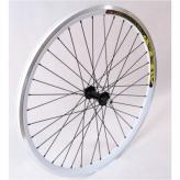 Koło rowerowe przednie 26 stożek białe