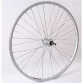 """Koło rowerowe tylne 27""""wolnobieg srebrne"""