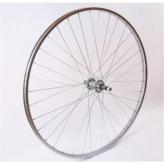 Koło rowerowe tylne 27 wolnobieg srebrne