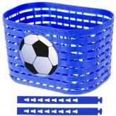 Koszyk rowerowy dziecięcy przedni niebieski plastikowy