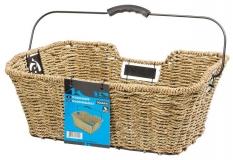 Koszyk rowerowy tylny M-Wave trawa morska