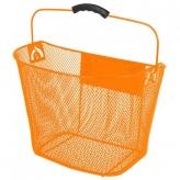 Koszyk rowerowy przedni Ventura pomarańczowy automat