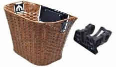 Kosz rowerowy ratan brązowy automat kraj