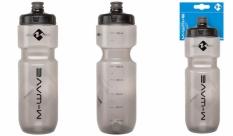 Bidon M-Wave 750ml plastikowy transparentny czarny