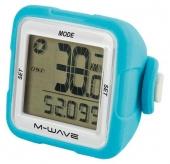 Licznik rowerowy M-Wave bezprzewodowy silikon niebieski