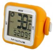 Licznik rowerowy M-Wave bezprzewodowy silikon pomarańczowy