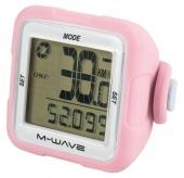 Licznik rowerowy M-Wave bezprzewodowy silikon różowy