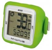 Licznik rowerowy M-Wave bezprzewodowy silikon zielony