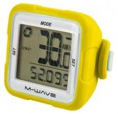 Licznik m-wave 14 f. bezprzewodowy silikon żółty