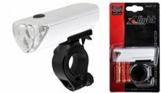 Lampka rowerowa przednia X-light 3 led xc-104a biała
