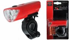 Lampka rowerowa przednia X-light 3 led xc-104a czerwona