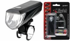 Lampa przód x-light 3w led + 4xaaa baterie (jy-7076) 120 lm