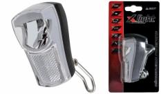 Lampa przód x-light reflektor 01w led (xc-211) z odblaskiem 2xaaa baterie