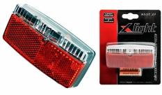 Lampa tył x-light na bagażnik 2 super led - 2xaa baterie (xc-120)