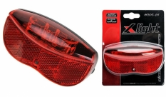 Lampa tył X-light na bagażnik super LED 2xAA