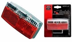 Lampa tył x-light na bagażnik 2 super led - prądnica  (xc-120d)