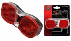Lampa tył x-light na bagażnik 3 super led - prądnica (xc-105d)