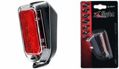 Lampa tył X-light na błotnik 2 led - 2xAAA baterie
