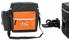 Torba rowerowa M-Wave clip-on czarno/pomarańczowa