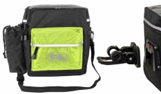 Torba rowerowa M-Wave  clip-on czarno/zielona