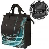 Torba m-wave na bagażnik czarna ze wzorem