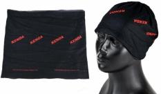 Nakrycie głowy Kenda coolmax czerwono-czarno-szare