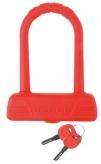 Zapięcie rowerowe M-Wave U-Lock B189 silikon czerwone