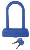 Zapięcie rowerowe M-Wave U-Lock B189 silikon niebieskie