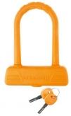 Zapięcie rowerowe M-Wave U-Lock B189 silikon pomarańczowe