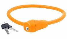Zapięcie rowerowe M-Wave 12x600 silikon kluczyk pomarańczowe